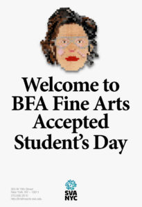 Poster Accepted Students Day - BFA Fine Arts