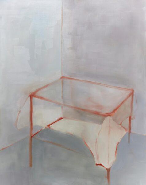 Yiyi Gu: My table, 2019. Oil on canvas. 48 x 60 inches.