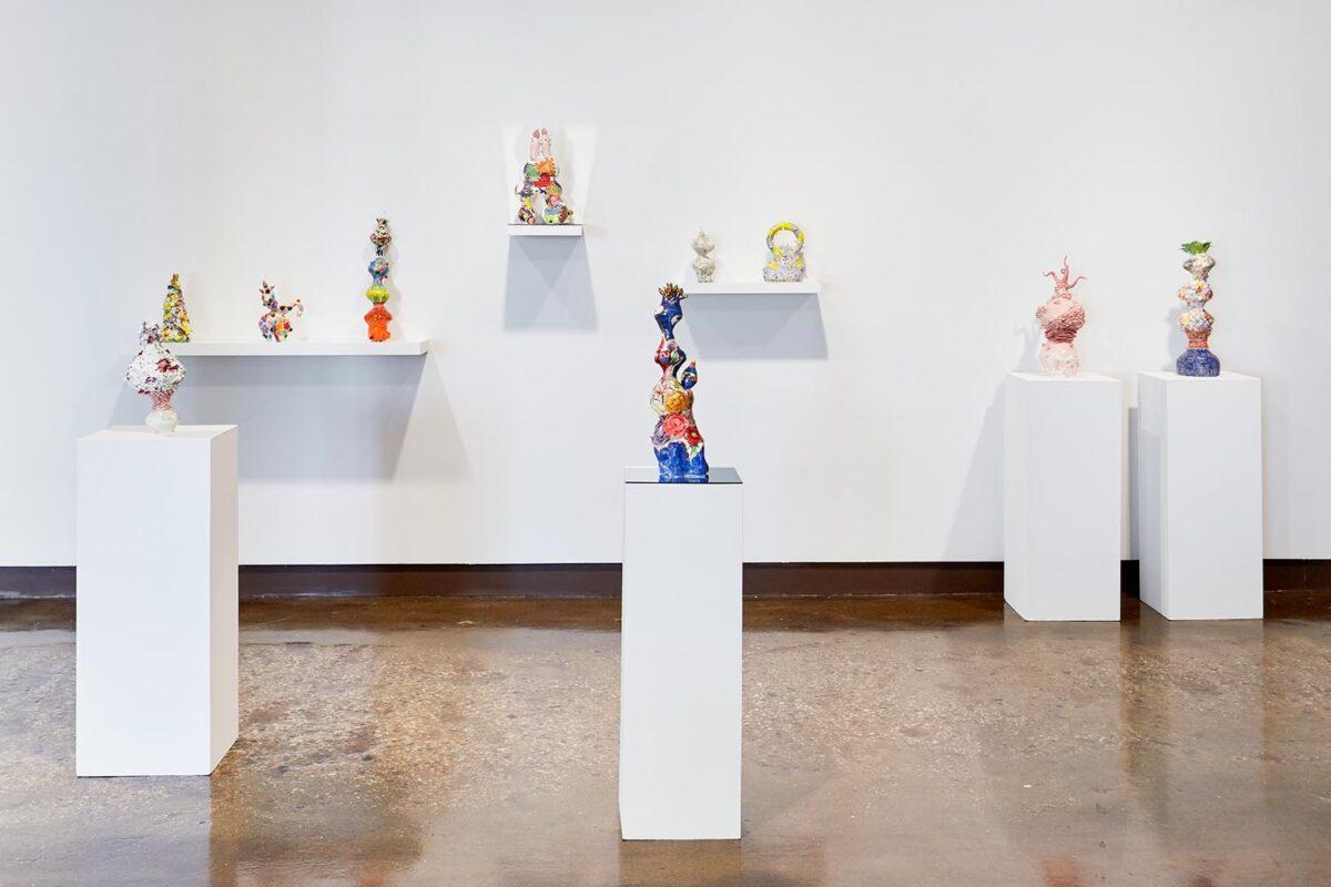 Xichao (Carol) Cao: Untitled (installation view), 2019. Glazed Ceramics.