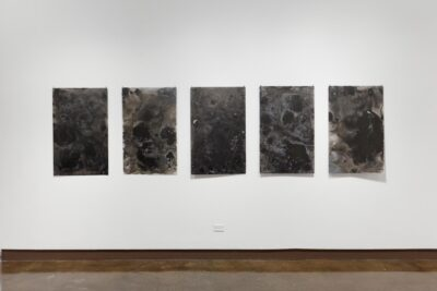 Lisha Yan, <i>A Black Film</i>, 2019. Ink on mylar, 25 x 40 inches (series of 5).