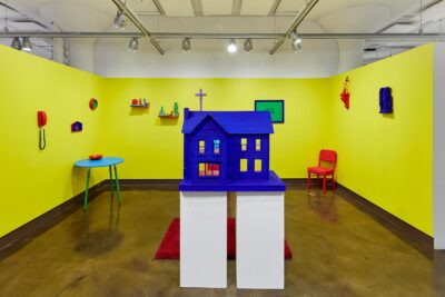 "Mark Andrew. Living Room, 2019. Exhibition view ""Chromaphilia/Chromophobia"", 2020 at the SVA Chelsea Gallery, New York."