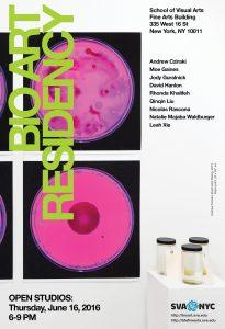 2016 Summer Bio Art open studios poster web