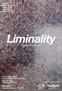 "Poster of ""Liminality"", Curated by Gary Sherman"