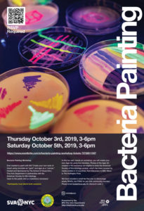 2019 Bacteria Painting Workshop poster