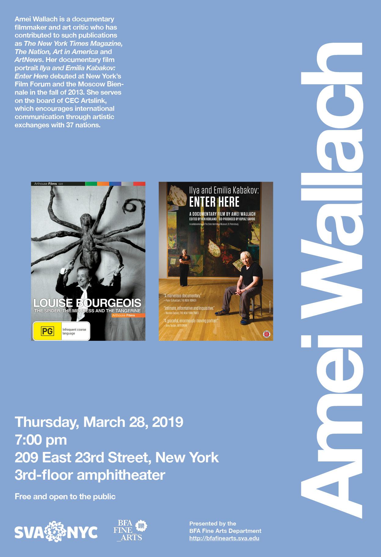Amei Wallach Lecture - Events - BFA Fine Arts Department