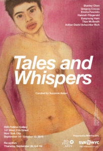 poster for Tales and Whispers Exhibition Flatiron Gallery