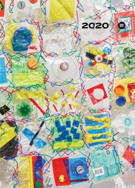 Cover of the 20/20 publication showing an artwork by Sophy Chang made with colorful plastic