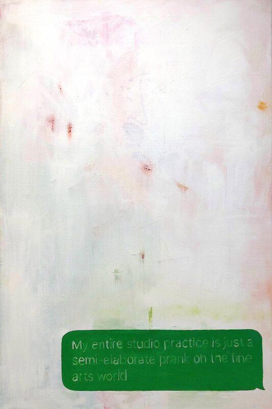 """Aynsley Leonardis, N/A, 2020. Oil on stretched canvas, 24 x 36""""."""