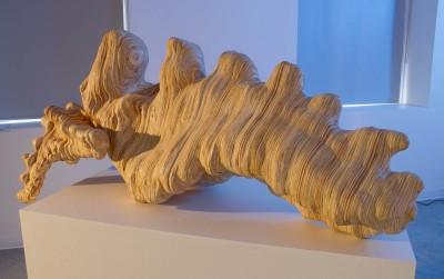 "Alessia Resta: ""Regeneration"". 2013. Plywood. 64x24x24"""