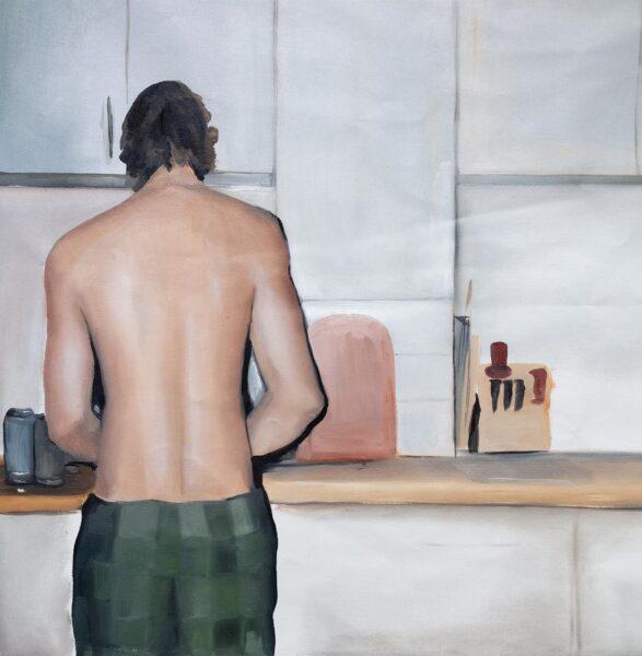 Anna Gryglak, Alex, 2019. Oil on canvas, 48 x 32 inches.