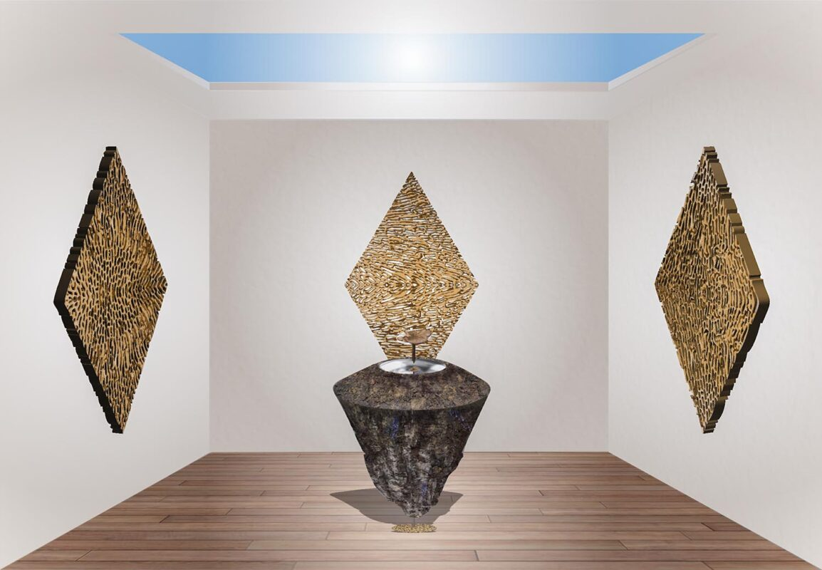 Annie Morrissey: <i>As, Above, So, Below<i/>, 2020, Digital Render, Installation View.