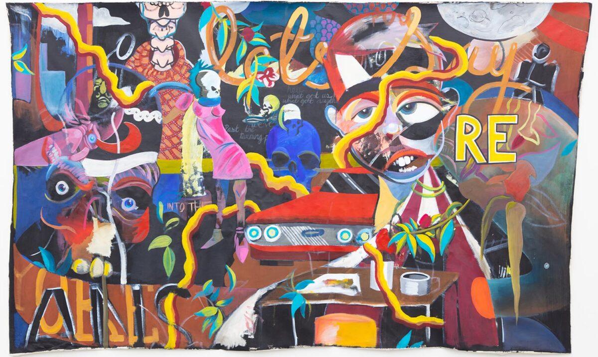 Austin Romanaux, Feeling Held Back, 2020, Acrylic on Canvas, 72x48 inches.
