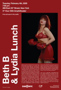 Visiting Artist Lecture: Beth B & Lydia Lunch