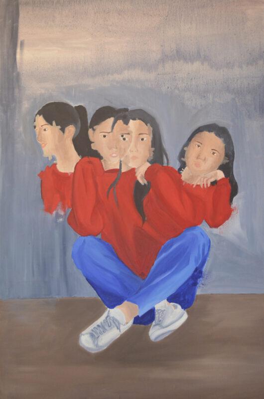 Caitlyn Ashley Padilla, Charade, 2020. Oil on canvas. 36 x 24 inches.