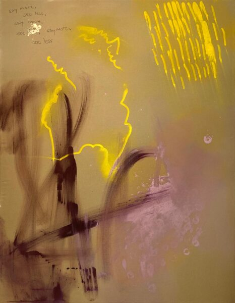Carlos Flores, Untitled, 2020. Acrylic paint, 46 x 36 inches.