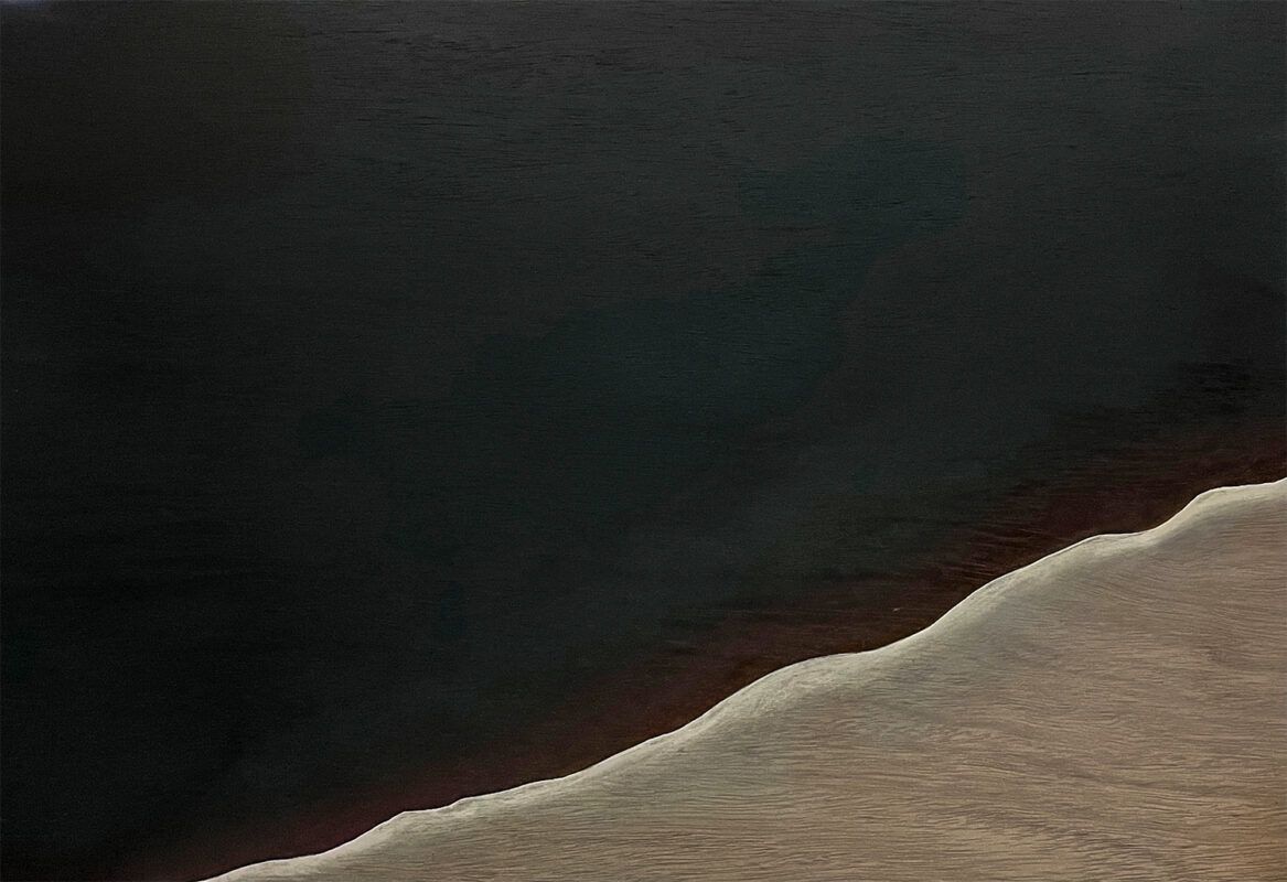 Yeon Cho, The Mountain, 2020. Oil on wood panel. 29 x 20 inches.
