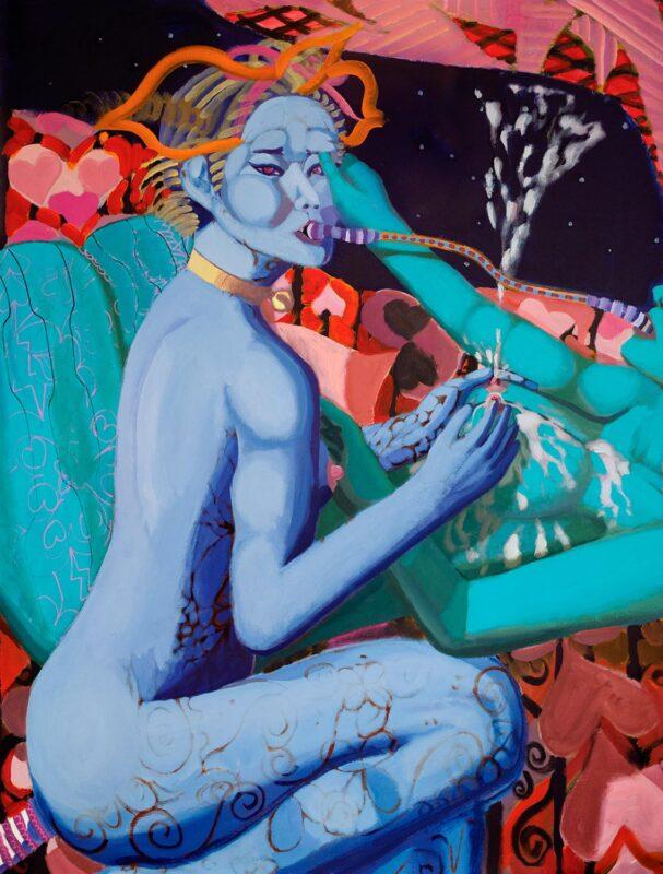 Chunbum Park, Post Human Love, 2019. Acrylic on canvas. Detail.