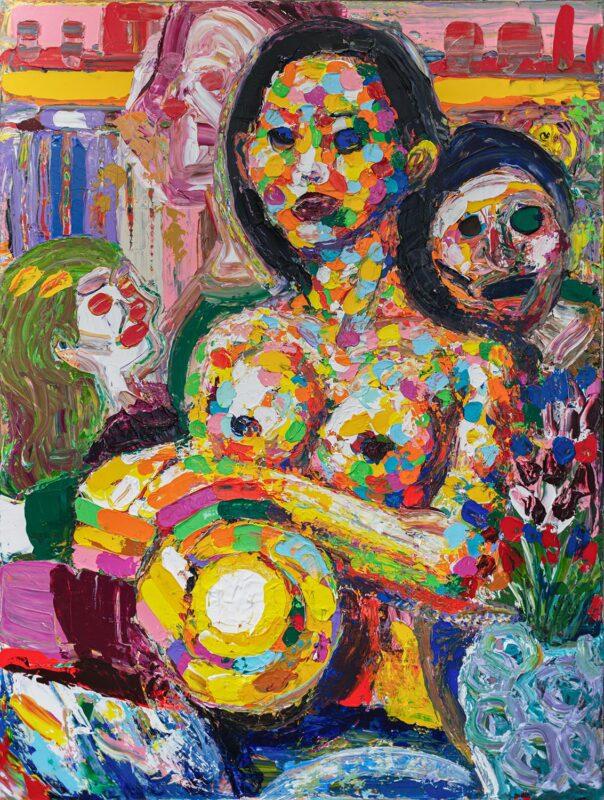Chunbum Park, Screaming Beauty, 2020. Acrylic on canvas, 60 x 45 inches.