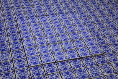 Patterned Photo decal ceramic tile work