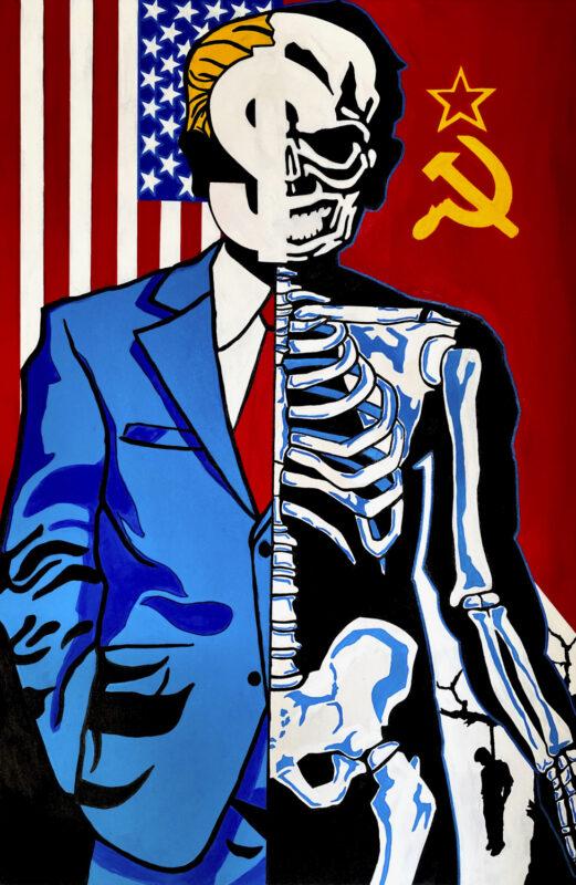 Darius Dyson, Mr. President, 2020. Acrylic on canvas. 46 x 30 inches.