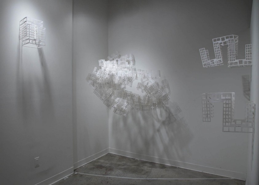 Emily Palmer: Installation view. 2013. Paper, thread. Dimension variable
