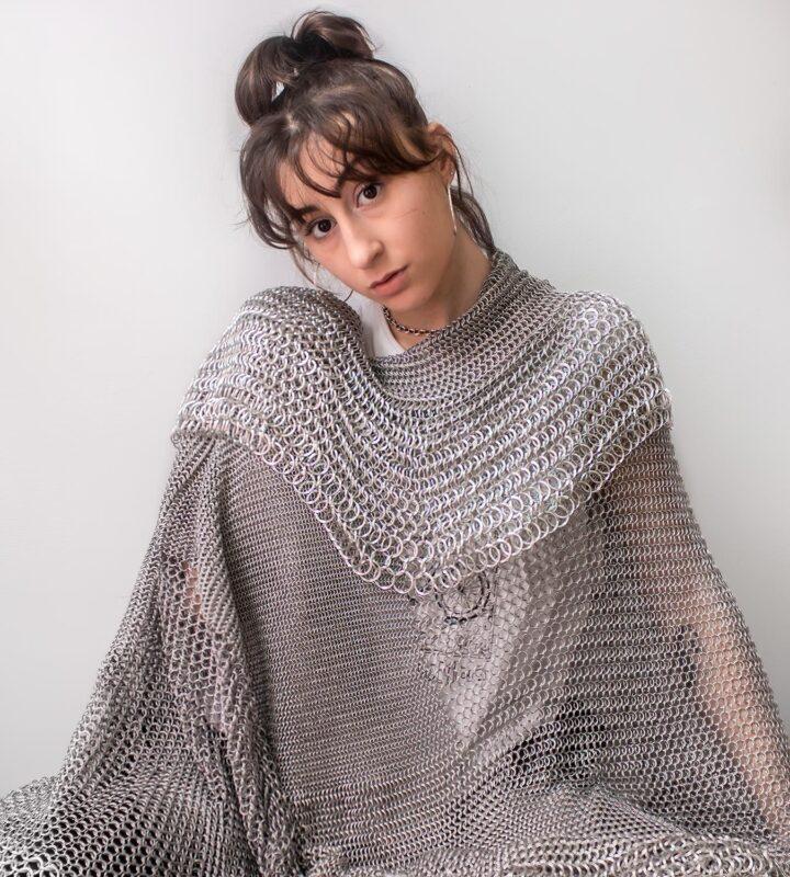 Emma Fasciolo: Chainmail Blanket, 2020. Aluminum.