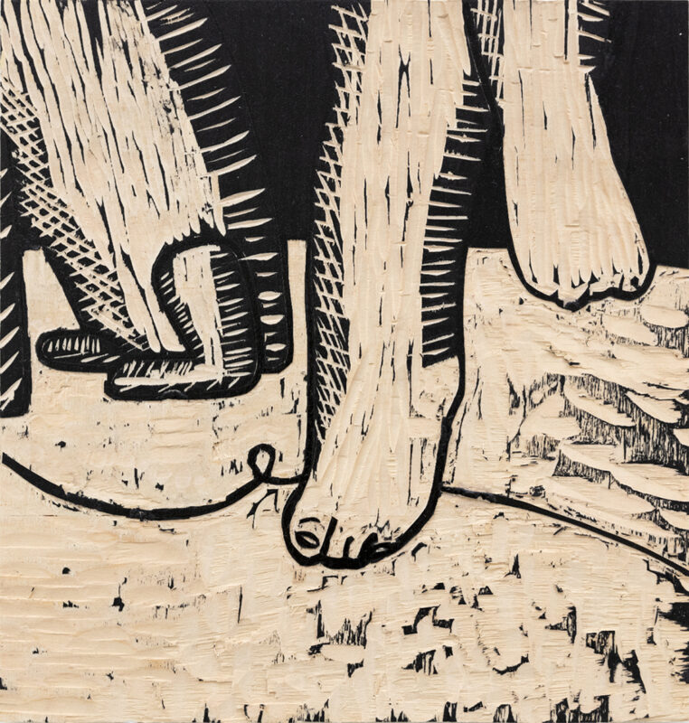 Jungeun Annie Yang, WF 2020-5, 2020. Woodcut 11 x 12 inches.
