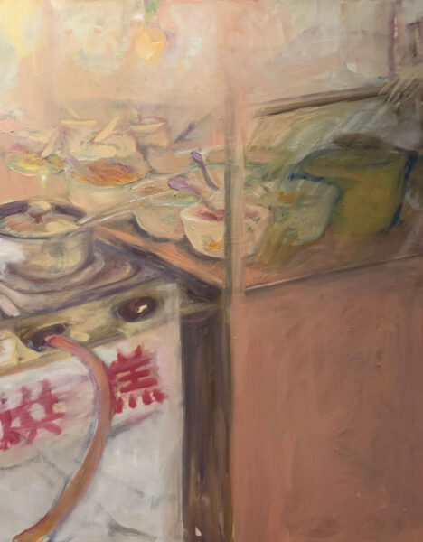 Feixuan Huang, Chengdu Street Food, 2020. Oil on canvas, 18 x 24 inches.