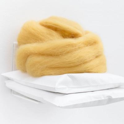 """Gabriella Price: """"Untitled"""". 2014. Plaster, wool. 7x8x5"""""""