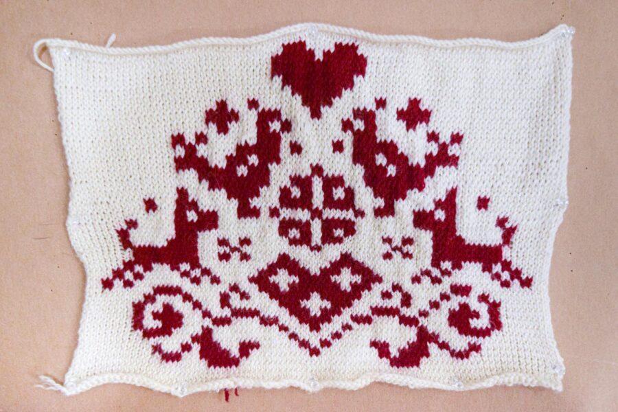 Breanna Gartner, <i>Untitled</i>, 2020. Knitting, yarn, 10 x 12 inches.