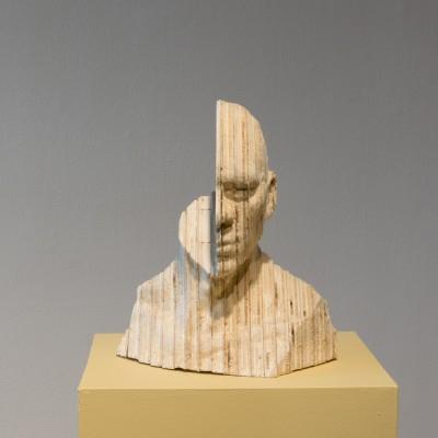"""Gerald Sheffield, 15x19x22"""", CNC Wood cut."""