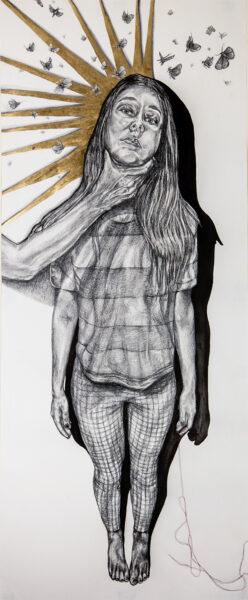 Bree Gore, Transcendence, 2020. Graphite on paper. 24 x 60 inches.