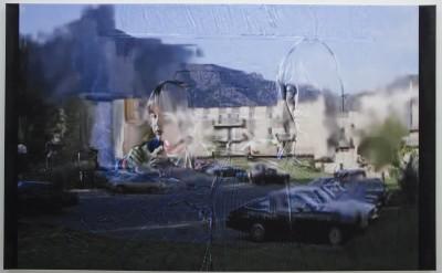 "Holly Strawbridge: "" Morning "".2013. Ink jet, oil on canvas. 54 x 96"" ea."