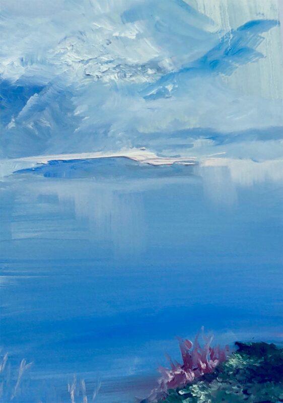 Kaitlyn Lashendock: Between Sea and Sky, 2020. oil.