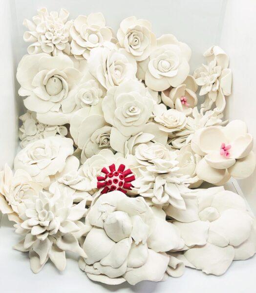 Carol Cao, April 2020, 2020. Sculpey, 2 x 2 x 0.5 inches each.