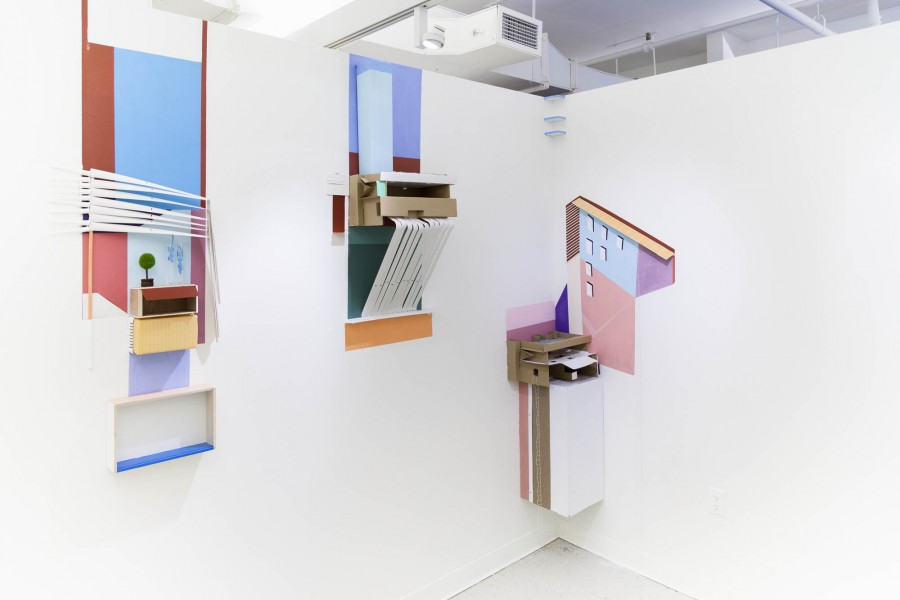 Kate O'dell: Installation view. 2014. Mixed media. Dimensions variable