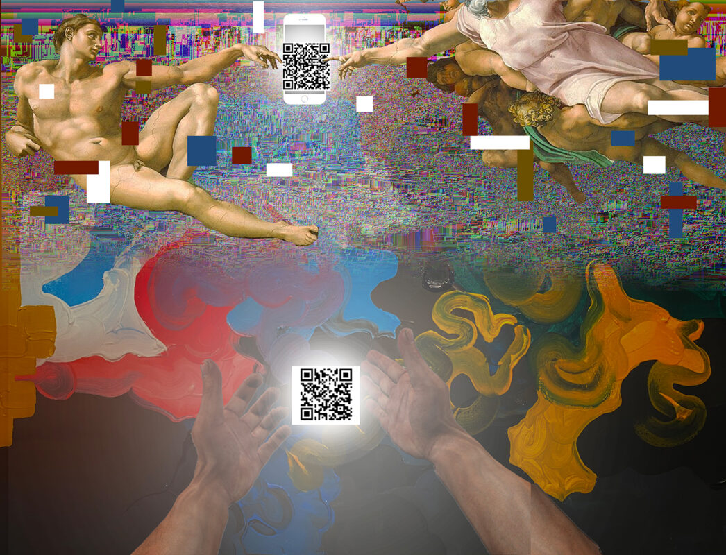 Kyuin Serena Kim, Untitled, 2020. Digital print. 25 x 18 inches. (Scan the QR code with any smartphone)