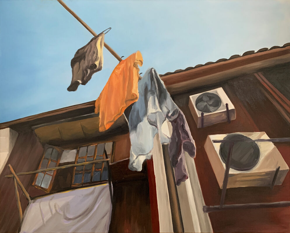 Wanru Jovie Li, Long Tang, 2020. Oil on canvas. 48 x 36 inches.