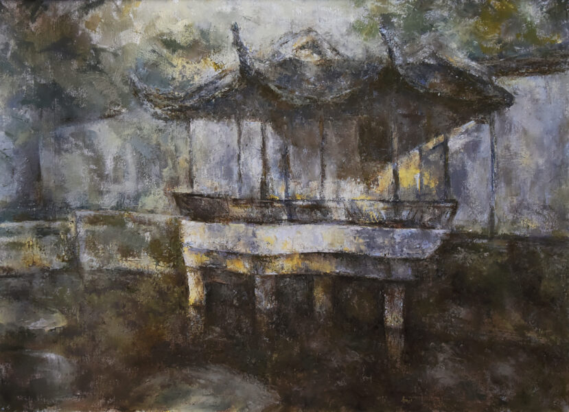 From the artist: A painting of a Chinese ancient temple. What could possibly have happened here thousands of years ago?