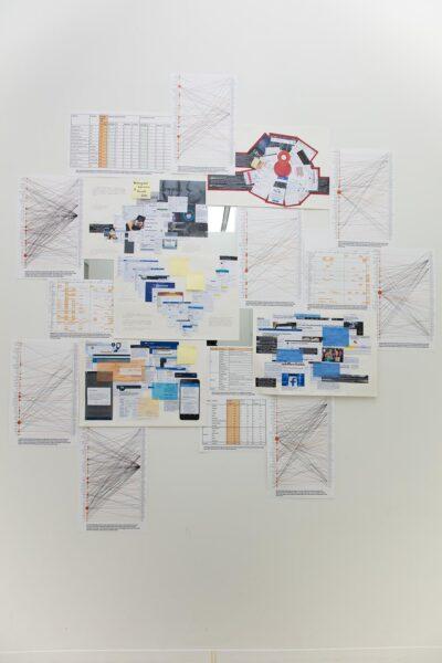 Mengna Yiri, Installation view of Yiri's studio during 'Fall Open Studios', 2019, New York. Detail.