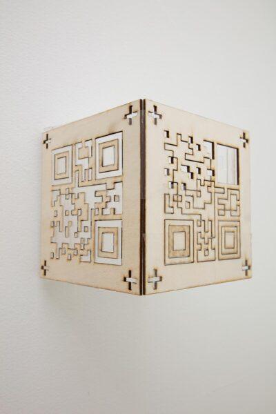 Mengna Yiri, <i>Untitled</i>, 2019. Laser cut wood.