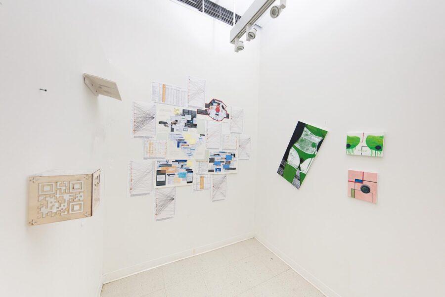 Mengna Yiri, Installation view of Yiri's studio during 'Fall Open Studios', 2019, New York.