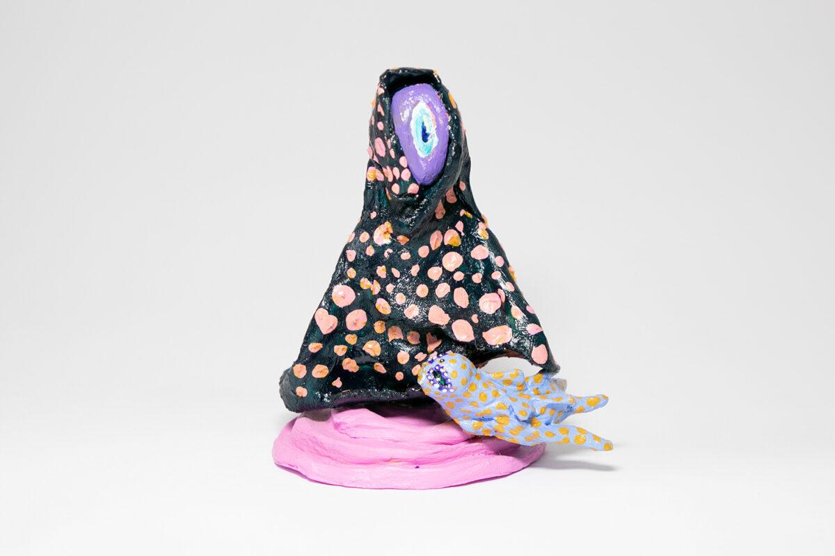 Natália Oliani, The Limit - Miniature, 2020. Clay and acrylic. 4 x 3 inches.