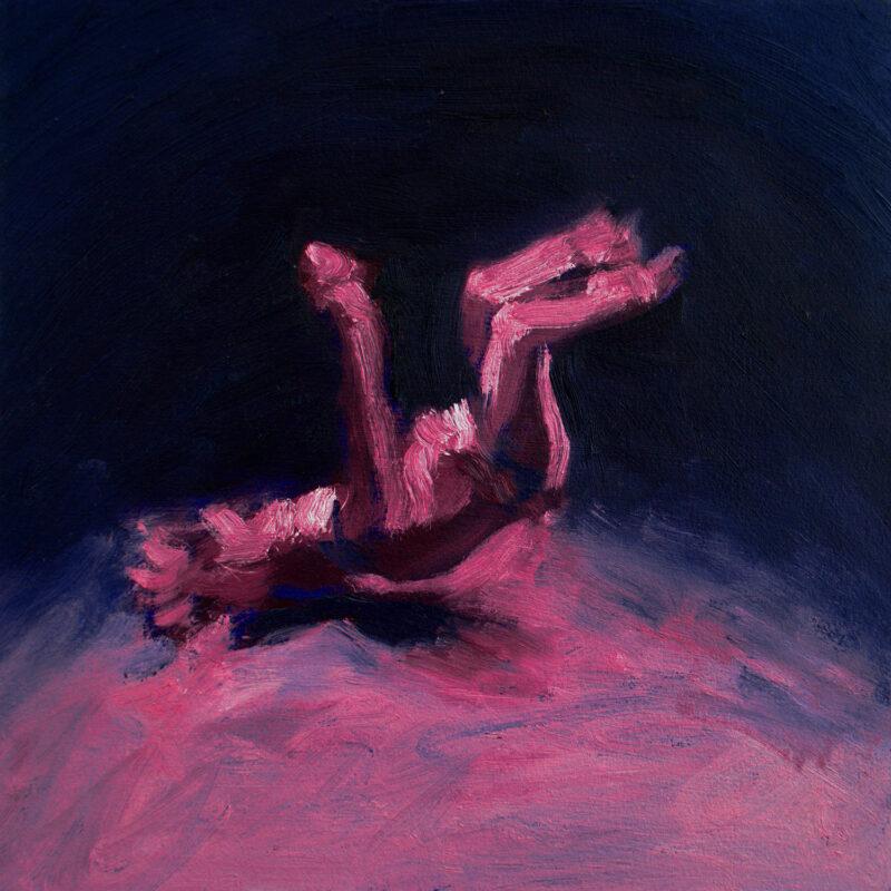 Matthew Perez, Danza del Venado, 2020. Oil on paper. 12 x 12 inches.