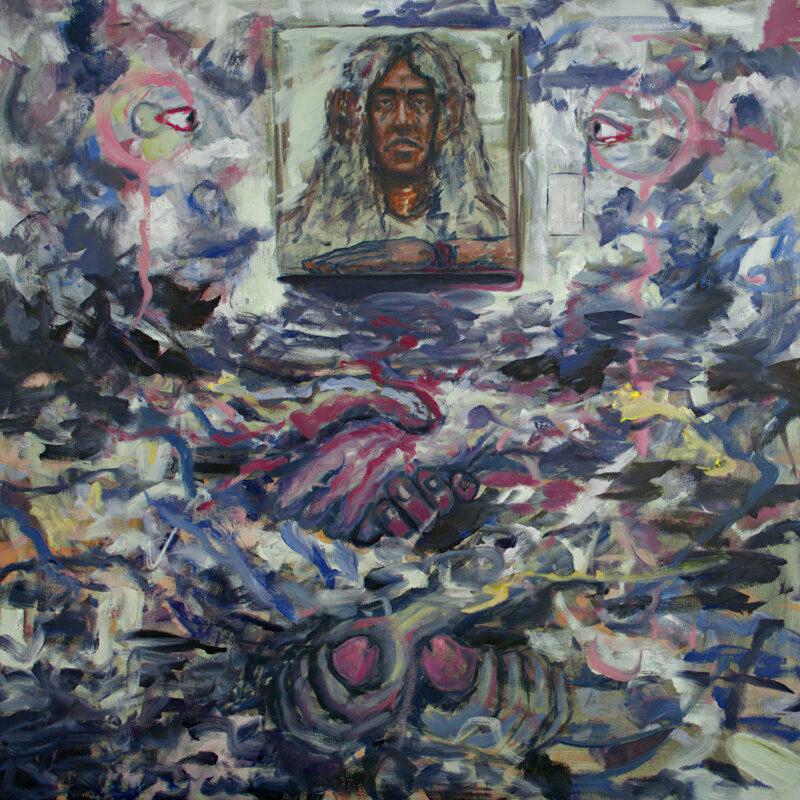 Matthew Perez, Manuela, 2020. Oil on canvas. 30 x 30 inches.