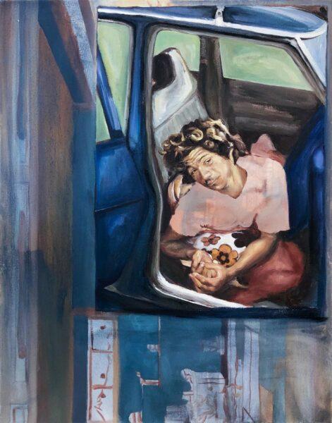 Christina Athas, Dada Car, 2019. Oil on canvas.