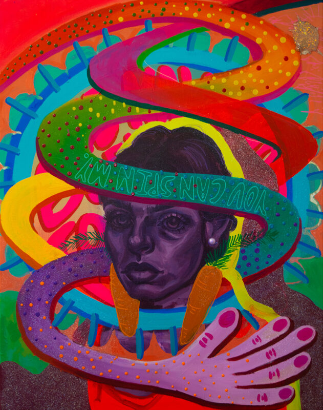 Sophia Santella, Carrot, 2020. Acrylic on canvas. 24 x 20 inches.