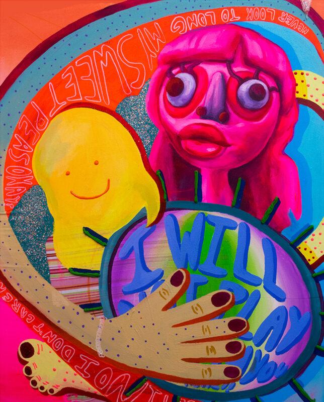 Sophia Santella, Cramp, 2020. Acrylic on canvas. 24 x 30 inches.