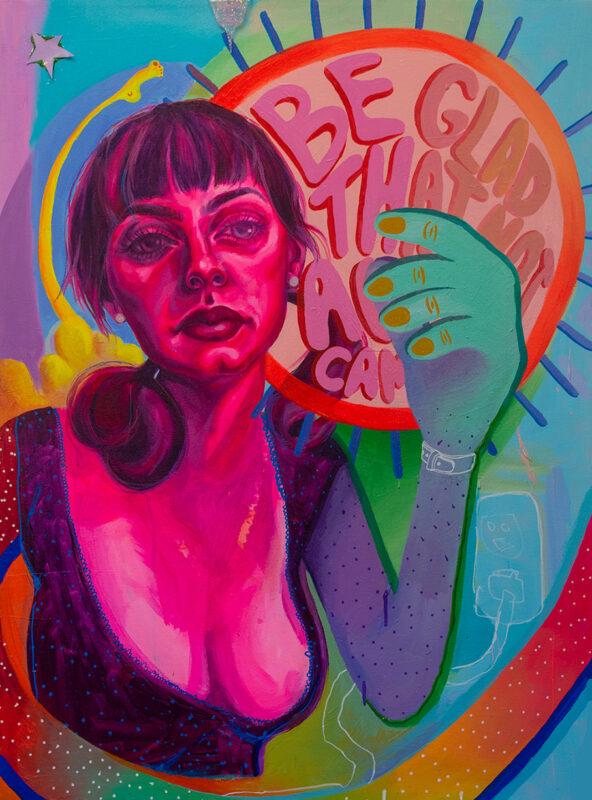 Sophia Santella, Year of Glad, 2020. Acrylic on canvas. 40 x 30 inches.