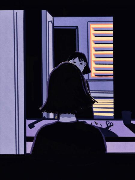 Sara Jang, 3AM, 2020. Digital drawing.